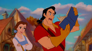 gaston can't read!