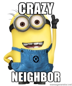 CRAZY NEIGHBOR